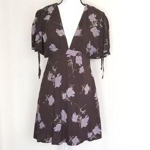 Free People shirt/dress floral size 4 -0306